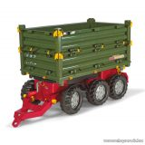Rolly Toys Multitrailer háromtengelyes, billenthető utánfutó (RO-125012)