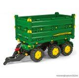 Rolly Toys Multitrailer John Deere háromtengelyes, billenthető utánfutó (RO-125043)