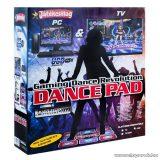 Dance Revolution PC-re és TV-re csatlakoztatható táncszőnyeg, 80 x 92 cm