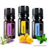 doTERRA Esszenciális olaj bemutató csomag, levendula, citrom és bormenta, 3 x 5 ml