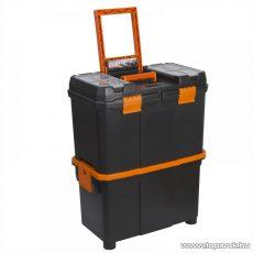 Handy Húzható, többrészes műanyag szerszámláda, 460x260x625mm (10932)