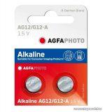 AgfaPhoto AG12 1,5V-os gombelem, alkáli LR43, 10 db / csomag