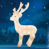 HOME KDA 3/WW Kültéri LED-es akril rénszarvas dekoráció, 50 db meleg fehér fénnyel világító leddel