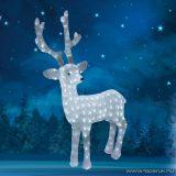 HOME KDA 40 Kültéri LED-es akril nagy rénszarvas dekoráció, 200 db hidegfehér / melegfehér kiválasztható színű LED-del