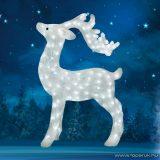 HOME KDA 8 Kültéri LED-es akril rénszarvas dekoráció, 200 db hideg fehér fénnyel világító leddel
