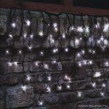 HOME KSF 204/WH Kültéri LED-es sorolható (toldható) jégcsap fényfüggöny, 200 x 200 cm, 204 db hidegfehér LED-del