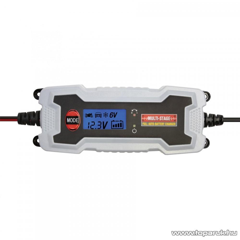 SAL SMC 38 SMART Automata akkumulátor töltő (akkutöltő) autó és motor akkumulátorokhoz, 0,8 – 3,8 A