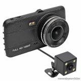 """SAL DVR 200FHD Autós menetrögzítő kamera tolatókamerával, 4""""-os LCD képernyővel, fekete"""