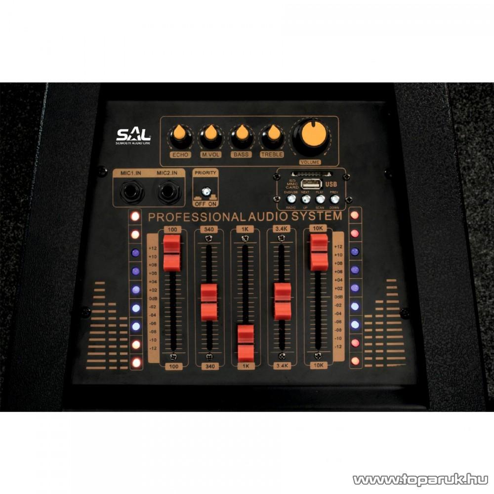 SAL PAX 25BT Multimédia zenekari karaoke aktív hangdoboz, BT kapcsolattal, vezeték nélküli mikrofonnal
