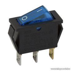 Billenő kapcsoló, 1 áramkör, 10A-250V, OFF-ON, kék világítással, 5 db / csomag (09050KE)