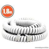 neXus Spirál telefonvezeték, 4P/4C, 1,8 m, fehér, 5 db / csomag (20113)
