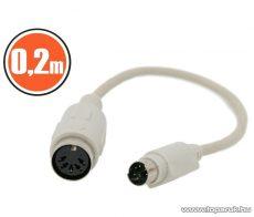 neXus PS/2 - DIN billentyűzet átalakító kábel, PS/2 dugó - DIN aljzat, 0,18 m (20165) - megszűnt termék: 2015. augusztus