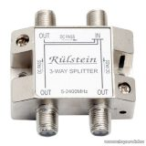 Műholdas F elosztó / splitter, 5-2400 MHz, 1 bemenet, 3 kimenet (05483)